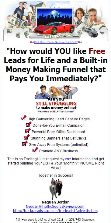 Free Leads Forever html ad