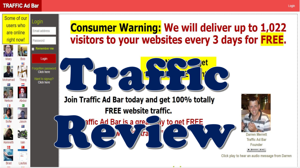 Traffic Ad Bar Review